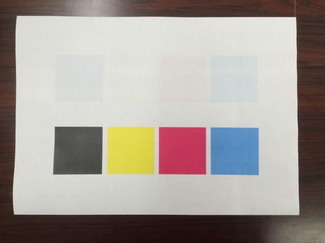 演色性テスト用紙
